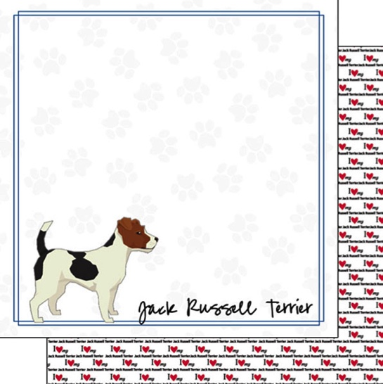 Jack Russell 12x12 Double Sided Scrapbooking Paper