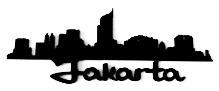 Jakarta Scrapbooking Laser Cut Title with skyline