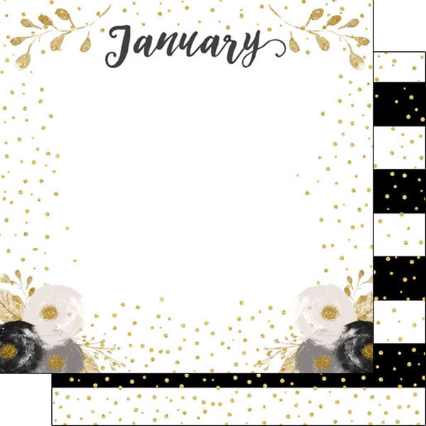 January 12x12 Double Sided Scrapbooking Paper