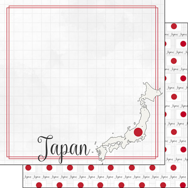 Japan 12x12 Double Sided Scrapbooking Paper
