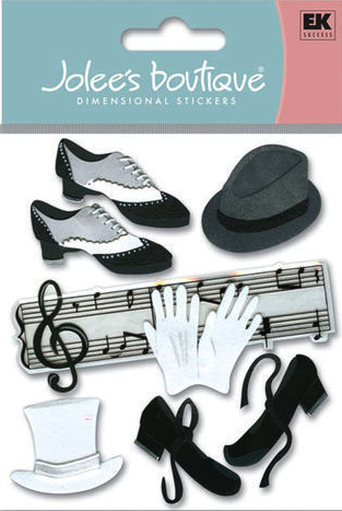 Jazz and Tap Jolees 3D Scrapbooking Stickers