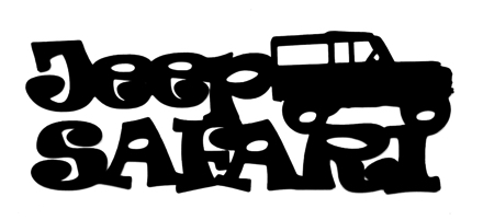 Jeep Safari Scrapbooking Laser Cut Title with Jeep