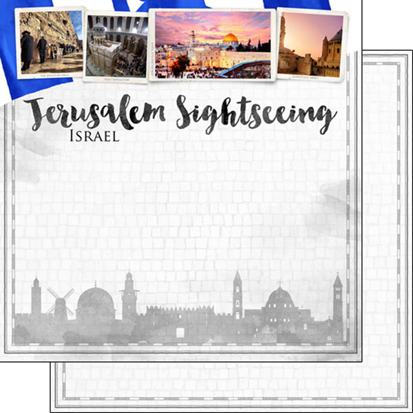 Jerusalem Sightseeing 12x12 Double Sided Scrapbooking Paper