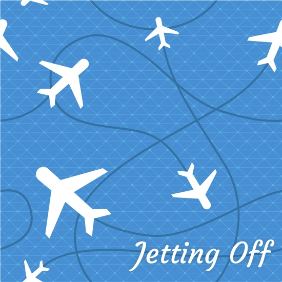 Jetting Off 12x12 Scrapbooking Paper