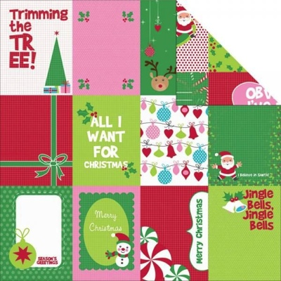 Jingle 12x12 Double Sided Scrapbooking Paper
