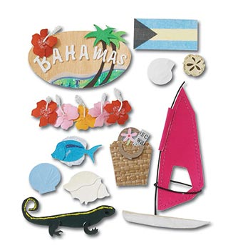 Destination Bahamas  Jolees 3D Scrapbooking Stickers