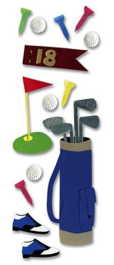 Golfing Jolees 3D Scrapbooking Stickers