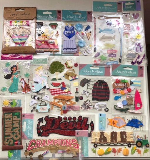 15 packs of Jolees Scrapbooking Stickers