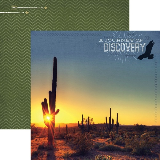 Journey of Discovery 12x12 Double Sided Scrapbooking Paper