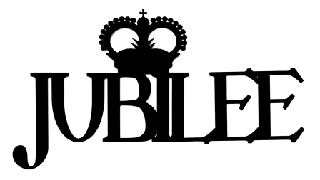 Jubilee Scrapbooking Laser Cut Title with crown