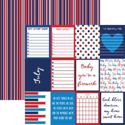 Plan it July 12x12 Double Sided Scrapbooking Paper