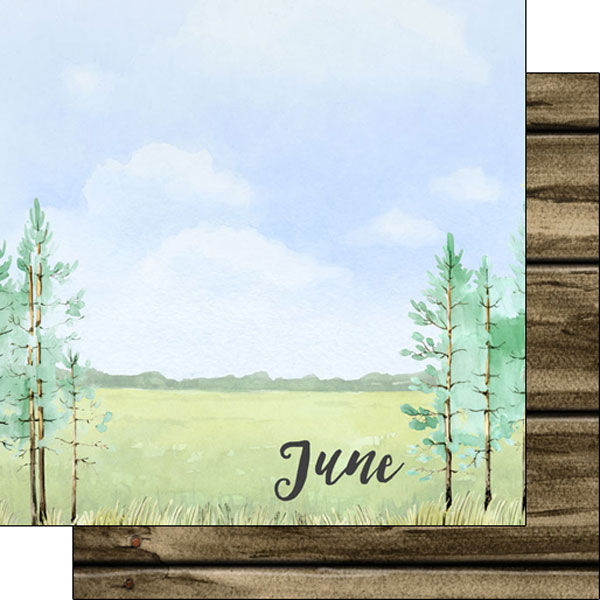 June 12x12 Double Sided Scrapbooking Paper