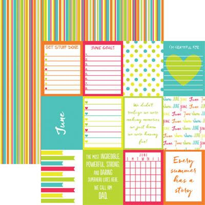 Plan it June 12x12 Double Sided Scrapbooking Paper