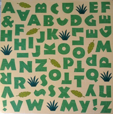 Jungle Book Alphabet 12x12 Scrapbooking Paper