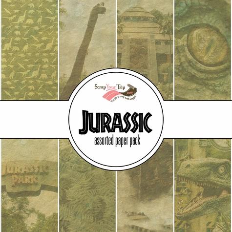 Jurassic Park 12x12 Scrapbooking Paper Pack
