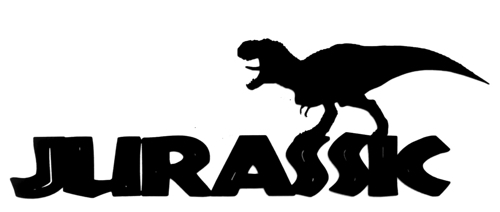 Jurassic Scrapbooking Title with Dinosaur