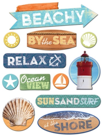 Just Beachy Scrapbooking 3D Stickers