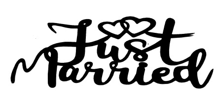 Just Married Scrapbooking Laser Cut Title