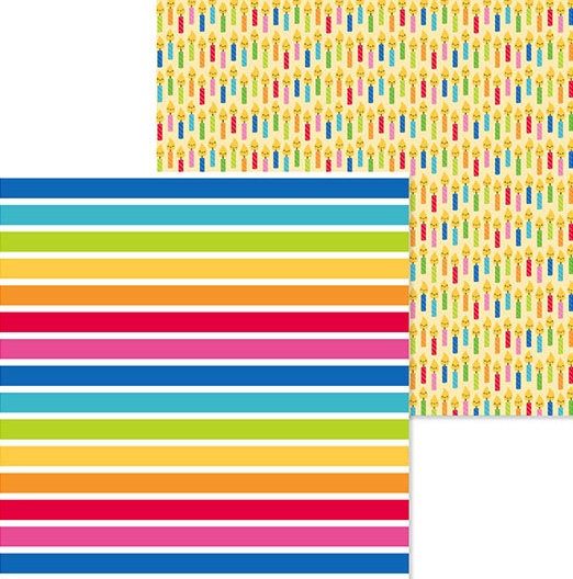Just My Stripe 12x12 Double Sided Scrapbooking Paper