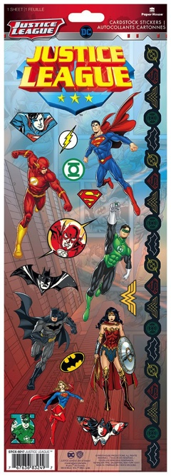 Justice League Cardstock Scrapbooking Stickers