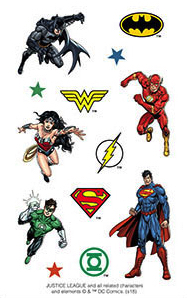 Justice League Scrapbooking Mini Stickers