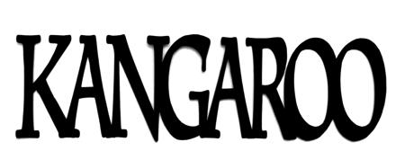 Kangaroo Scrapbooking Laser Cut Title