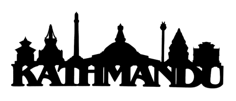 Kathmandu Scrapbooking Laser Cut Title with Skyline