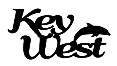 Key West Scrapbooking Laser Cut Title with Dolphin