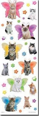 Kittens Large Glittered Scrapbooking Stickers