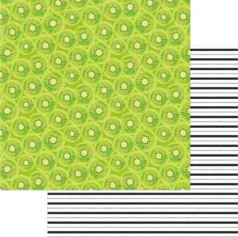 Kiwi 12x12 Double Sided Scrapbooking Paper