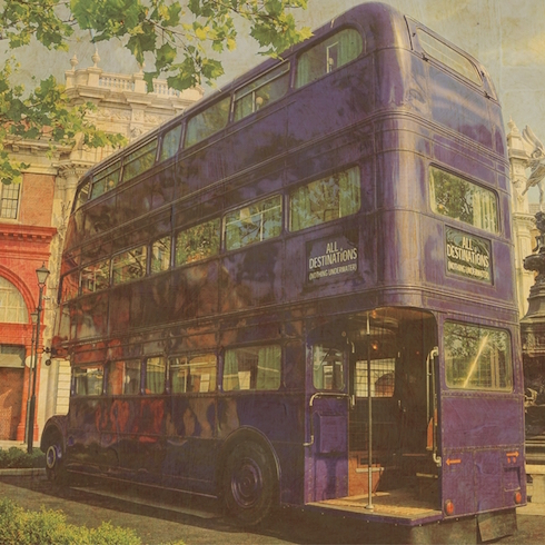 Harry Potter Knight Bus 12x12 Scrapbooking Paper