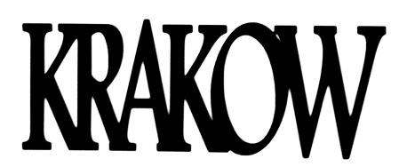 Krakow Scrapbooking Laser Cut Title