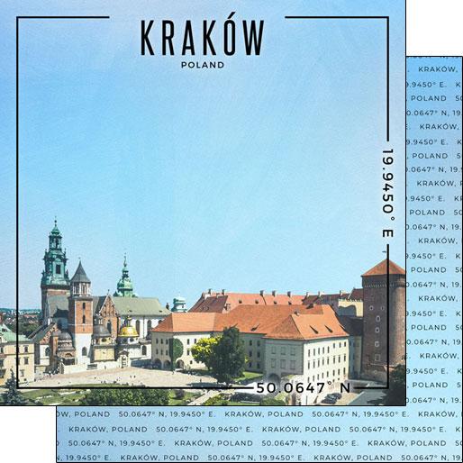 Krakow 12x12 Double Sided Scrapbooking Paper