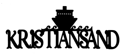 Kristiansand Scrapbooking Laser Cut Title with Ship