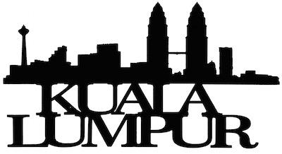 Kuala Lumpur Scrapbooking Laser Cut Title with Skyline