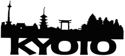 Kyoto Scrapbooking Laser Cut Title with Skyline