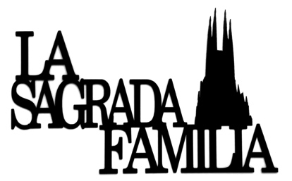La Sagrada Familia Scrapbooking Laser Cut with Cathedral