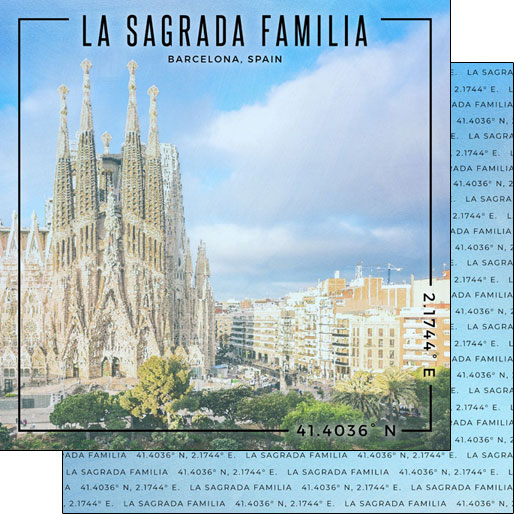 La Sagrada Familia 12x12 Double Sided Scrapbooking Paper