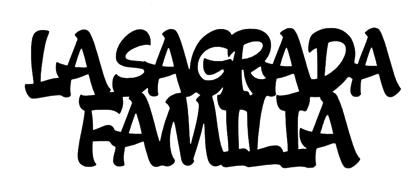 La Sagrada Familia Scrapbooking Laser Cut Title