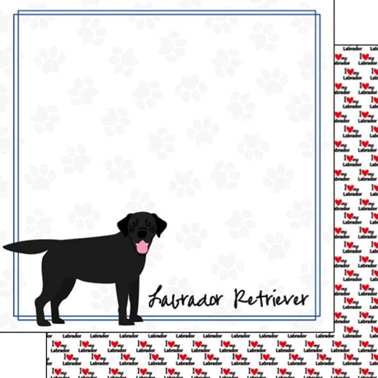 Labrador 12x12 Double Sided Scrapbooking Paper