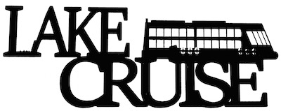 Lake Cruise Scrapbooking Laser Cut Title with Boat