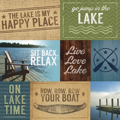 Lake Tags 12x12 Scrapbooking Paper