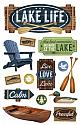 Lake Life 3D Scrapbooking Stickers