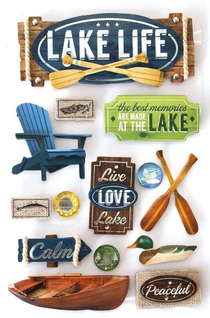 Lake Life 3D Scrapbooking Stickers