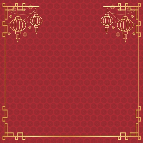 Red Lanterns 12x12 Scrapbooking Paper