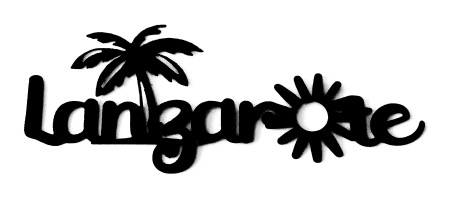 Lanzarote Scrapbooking Laser Cut Title with Palm