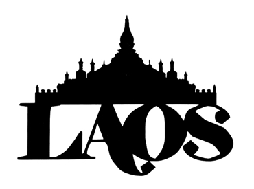 Laos Scrapbooking Laser Cut Title with Temple
