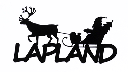 Lapland Scrapbooking Laser Cut Title with Santa Sleigh