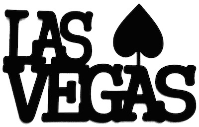 Las Vegas Scrapbooking Laser Cut Title with Spade