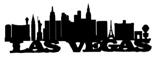 Las Vegas Scrapbooking Laser Cut Title with Skyline